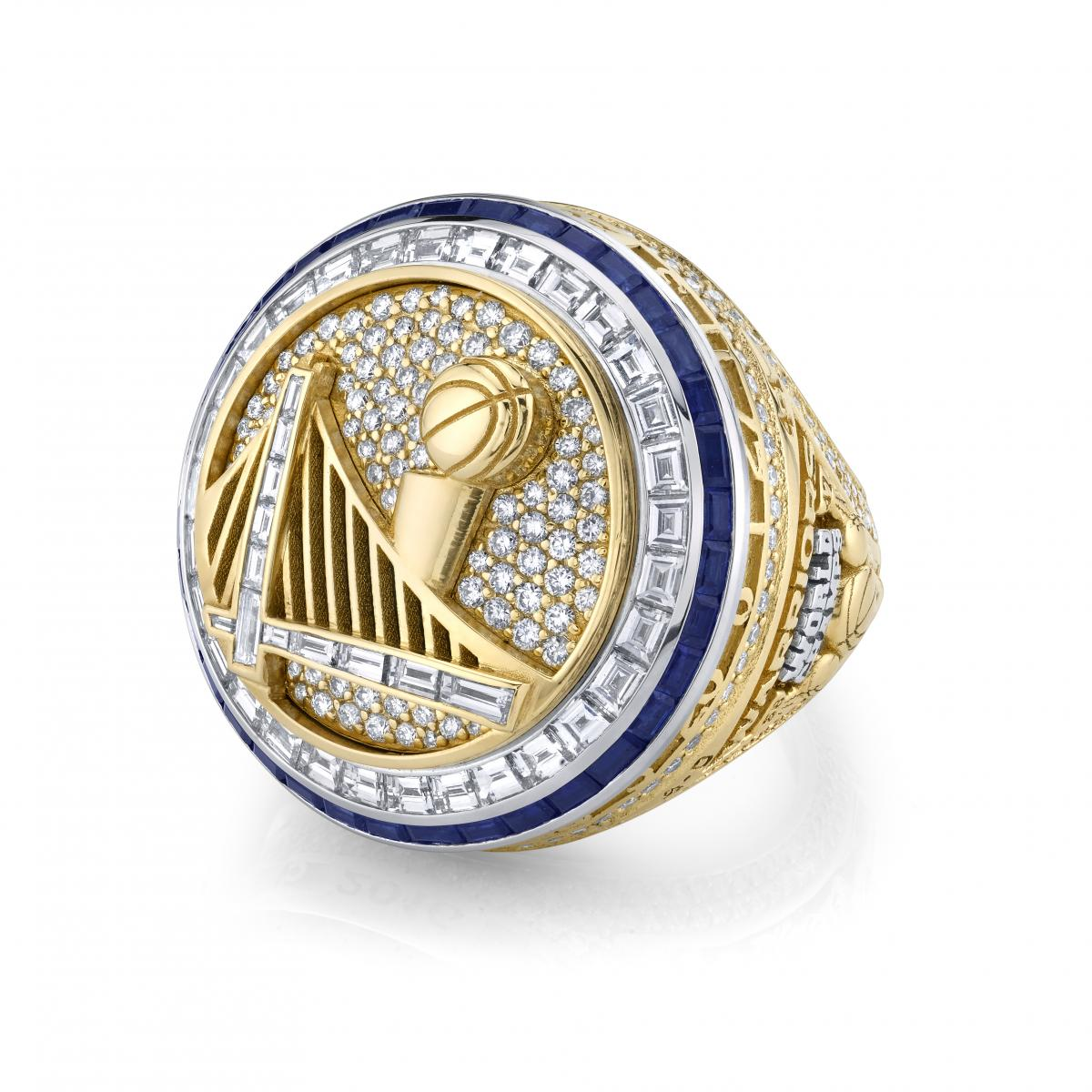 golden state warriors receive 2017 nba championship rings