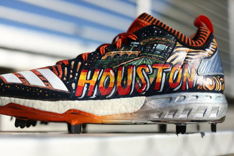 bcd967b3bc2d Local Artists Create Custom Cleats to Celebrate Astros-Dodgers World Series