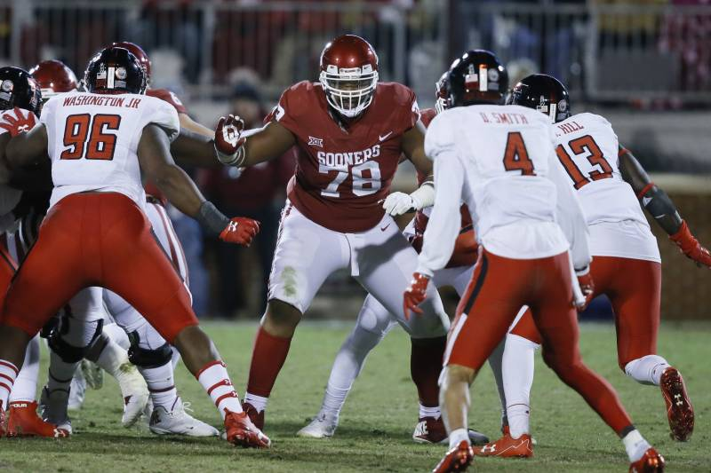 Orlano Brown is expected by many to be a first-round draft pick in the spring if he opts to leave Oklahoma a year early.