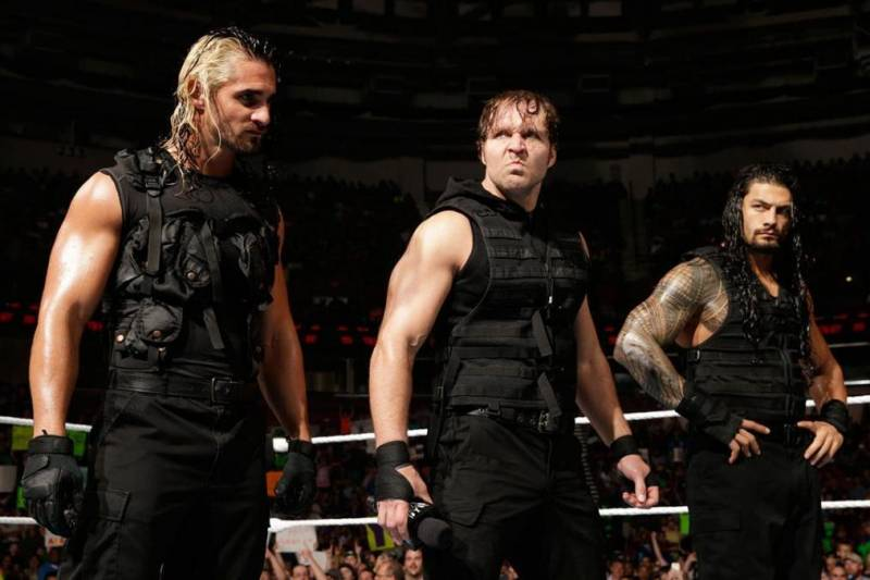 Seth Rollins, Dean Ambrose and Roman Reigns