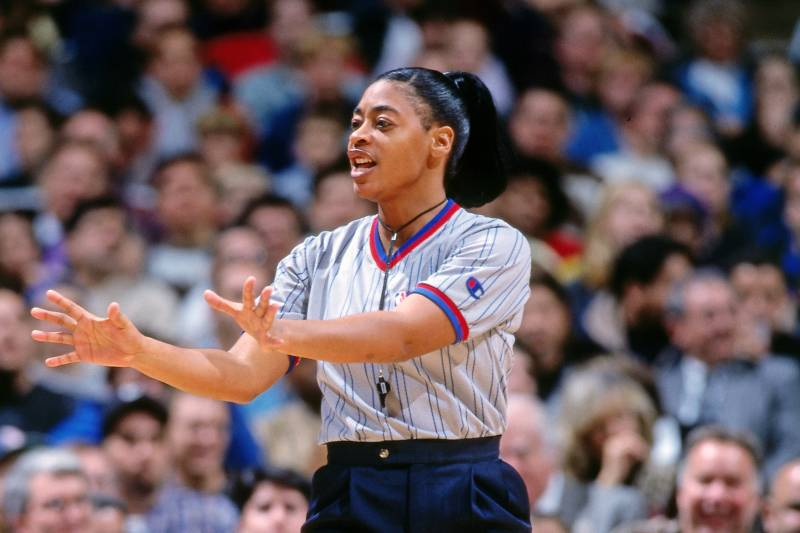 Hired in 1997, Violet Palmer went on to officiate in the NBA for 18 seasons.