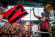 2 Chainz hypes up the fans at an Atlanta United match this season.
