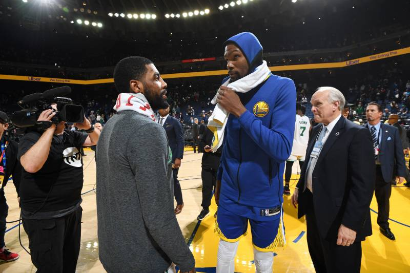 With free agency awaiting both Kyrie Irving and Kevin Durant, every interaction between the two has been scrutinized by fans, media and league insiders.