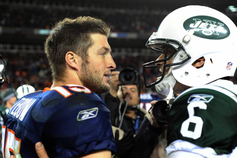 Tim Tebow vs. Mark Sanchez  How Potential Jets QB Controversy Will ... 6c2bc7544