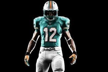 3b338db80 Miami Dolphins Unveil New Nike Uniforms