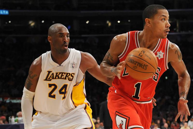 free shipping ad76d 208e7 Kobe Bryant vs. Derrick Rose: Which Player Will Win His Next ...