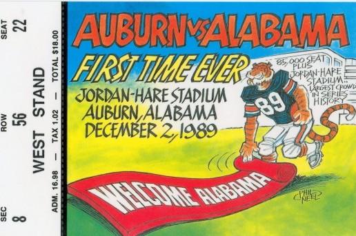 Classic SEC Football: The 1989 Iron Bowl Between Auburn and