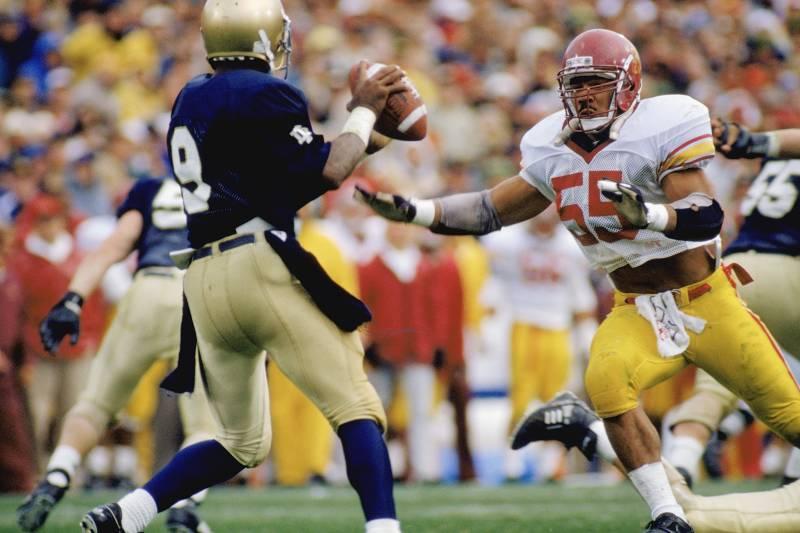 promo code f474b 2da78 Junior Seau: Remembering His Playing Days as a USC Trojan ...