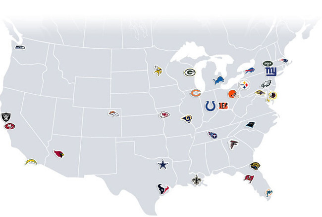 NFL Minor Leagues: What Needs to Be Done to Help Develop ... on super bowl team map, basketball team map, pittsburgh steelers map, favorite baseball team map, major league baseball team map, fifa team map, nfc team map, nhl team map, new england patriots map, mlb team map, cincinnati reds map, qmjhl team map, nhl fan map, nba team map, ncaa team map, cfl team map, hockey team map, mls team map, washington redskins map, afl team map,