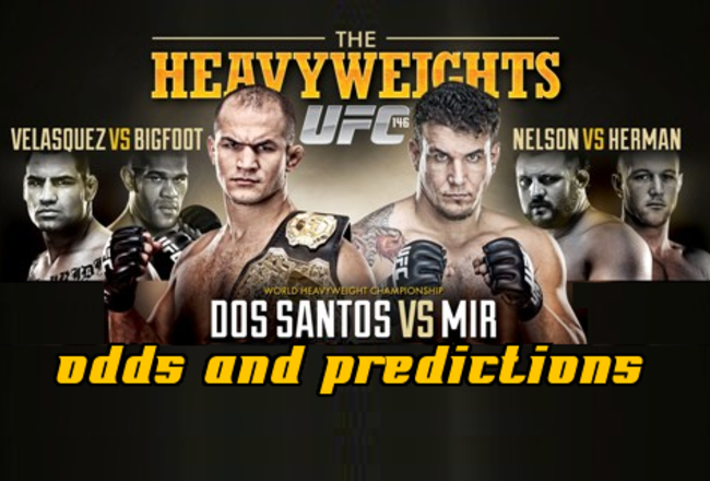 Betting odds ufc 146 otb betting boxes