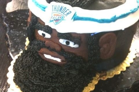 Swell James Harden Cake Okc Thunder Star Depicted In Awful Looking Birthday Cards Printable Inklcafe Filternl