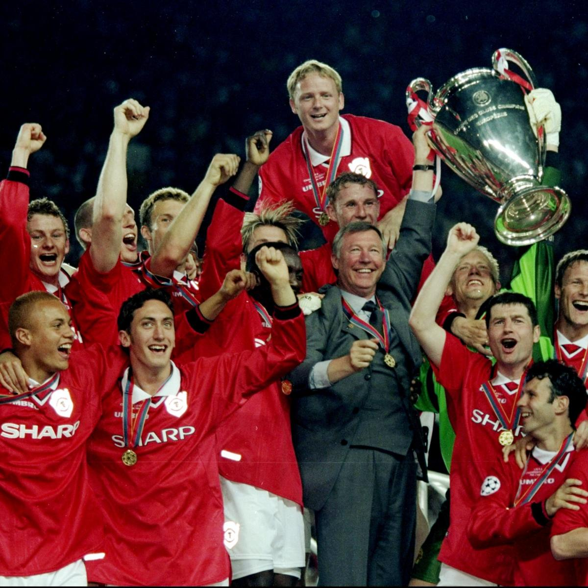 Champions League Final 2012: Manchester United History: 1990-99