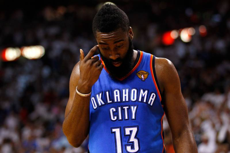 752543c38b98 James Harden Disappearing Act Costs Thunder NBA Finals