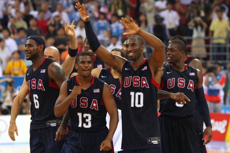 USA Basketball: 2012 Team vs  2008 Redeem Team   Bleacher