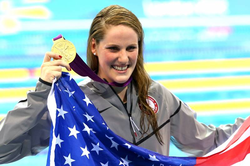 488aa525b1e The future officially arrived on Monday when U.S. swimming phenom Missy  Franklin earned her first individual Olympic gold medal by conquering the  ...