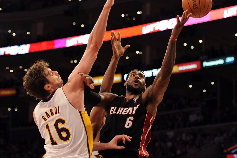 sale retailer 66093 fe0c2 LeBron James Playing Power Forward Will Lead to Miami Heat ...