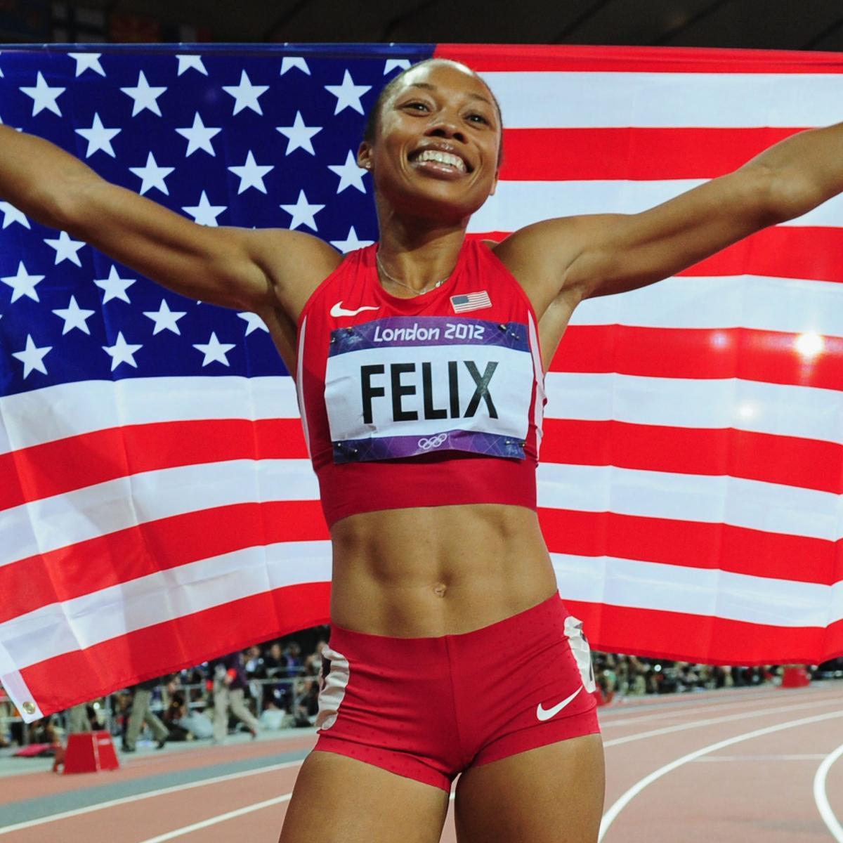 Allyson Felix Wins 2012 Olympic Women S 200 Meter Gold