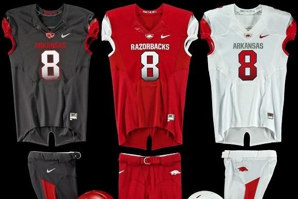 quality design e1d60 8f2bd Arkansas Football Uniforms: Check out the Razorbacks' New ...