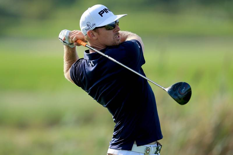 KIAWAH ISLAND, SC - AUGUST 09: Hunter Mahan of the United States hits a