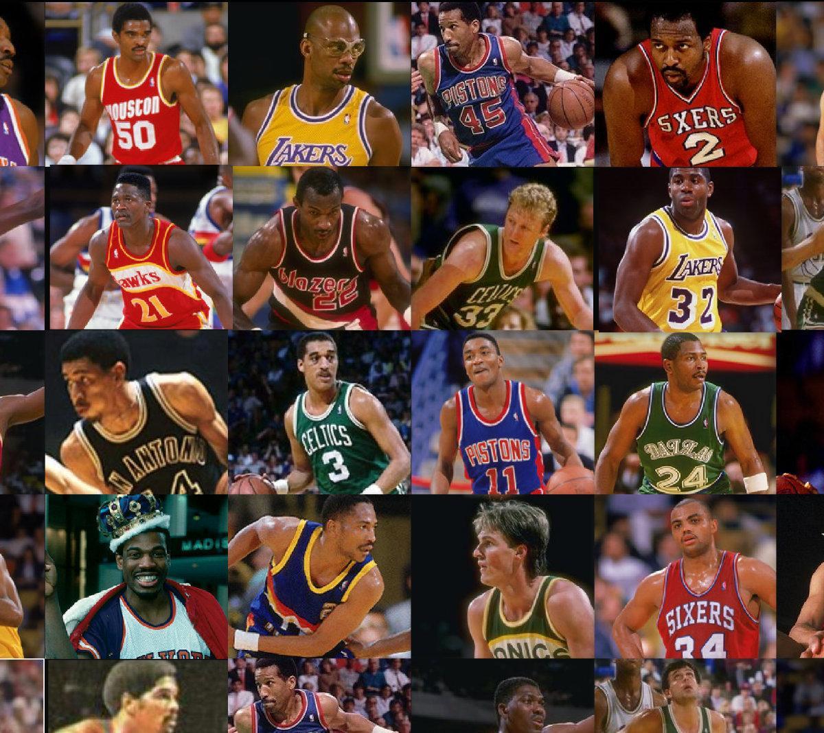 Legends Of The NBA 25 Best Players 80s