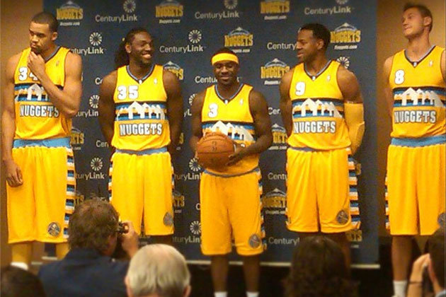 dba5eb38839 Denver Nuggets Unveil Atrocious Uniforms, Rekindling Love Affair with the  80's