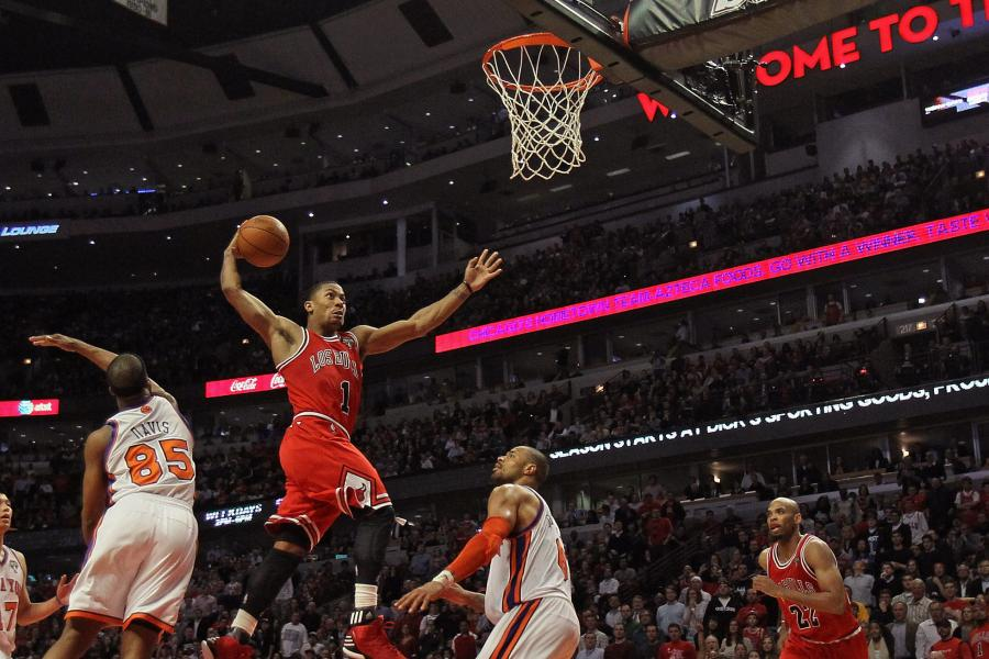 6f073579cab Derrick Rose  Top 10 Dunks of the Windy City Assassin