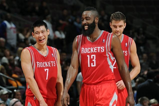 buy online f788e d2c6b Jeremy Lin and James Harden Still Years Away from Being ...