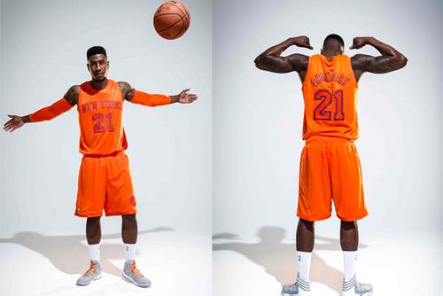 official photos a8a9f bde85 NY Knicks' Alternate Orange Jerseys Assault the Eyes ...