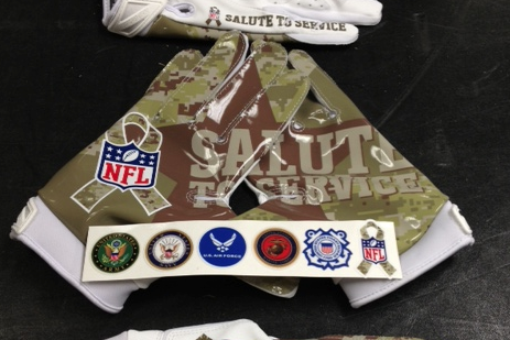 best cheap 79e9e 112f0 Breaking Down New Nike NFL 'Salute to Service' Gloves ...