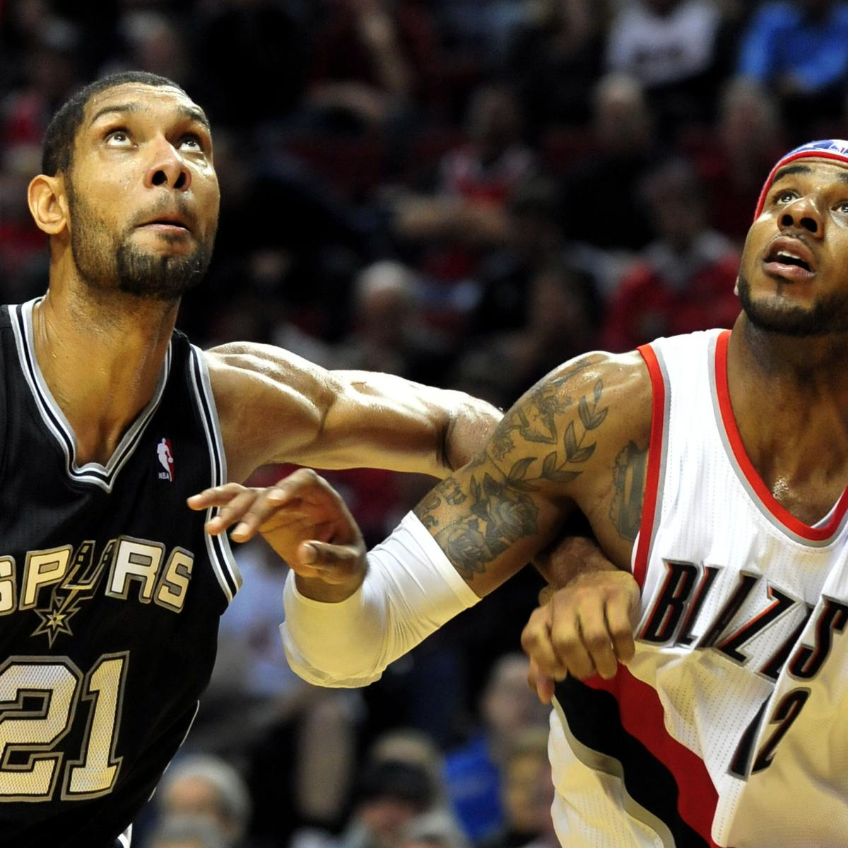 Portland Blazers Live Score: SA Spurs Vs. Portland Trail Blazers: Live Score, Results