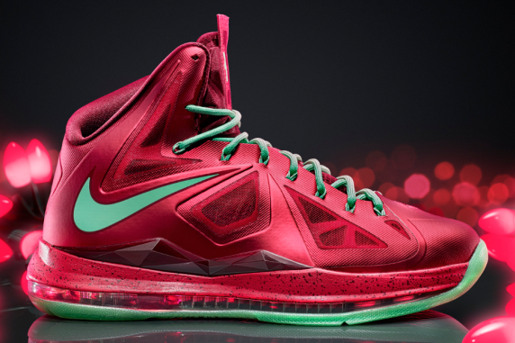Breaking Down LeBron X Nike Christmas 2012 Shoe  605053634510