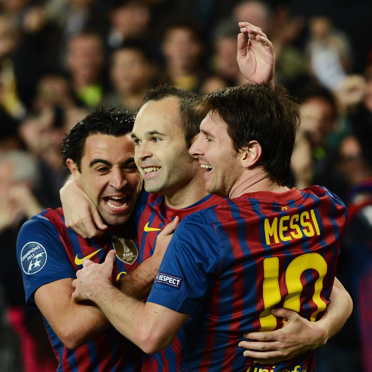 Messi Xavi And Iniesta How Long Can Barca Keep Them Together Bleacher Report Latest News Videos And Highlights