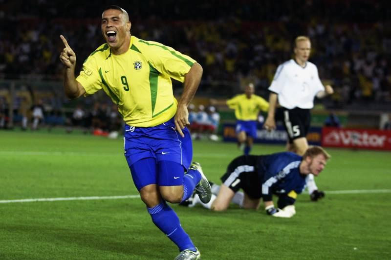 481d2e423 YOKOHAMA - JUNE 30  Ronaldo of Brazil celebrates after scoring opening goal  during the Germany