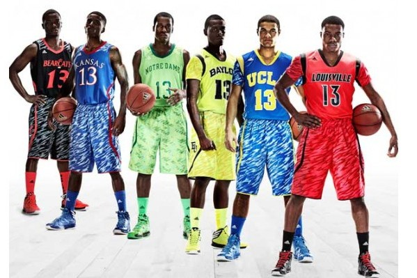 huge discount 4c134 03467 Kansas Basketball: Adidas Reveals Camo Print Uniforms for ...
