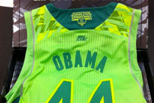 save off ccb4c 828ee Notre Dame Sends President Obama Neon Jersey After Uniform ...