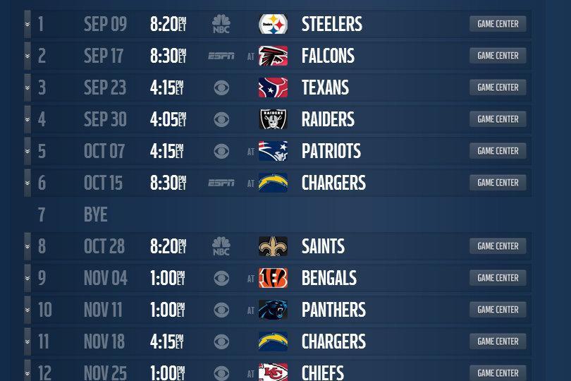mock schedule projecting the denver broncos 2013 regular season