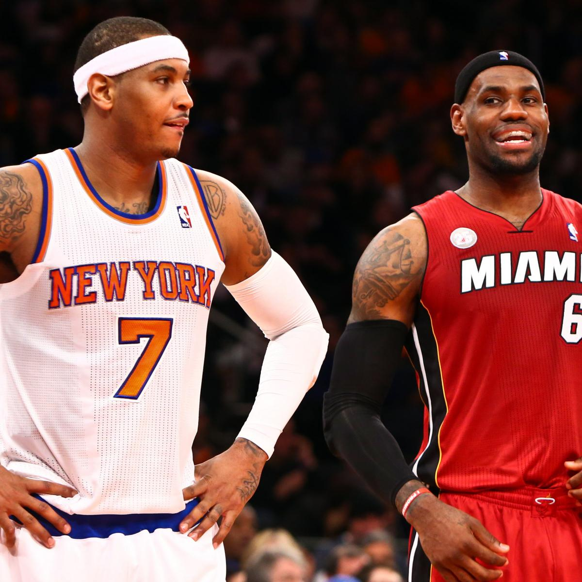 Tracing Career Rivalry Arc of LeBron James and Carmelo ...