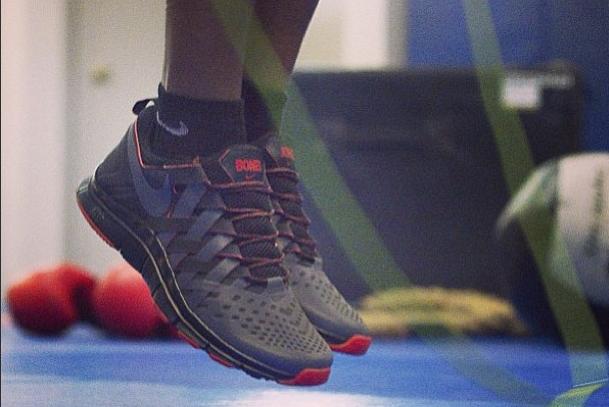 Nike Free Trainer 5.0 Jon Jones Size 9 Used UFC Bones jones