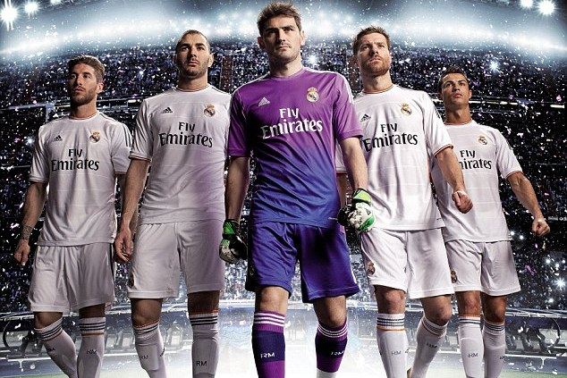 timeless design 082dc 2be3c Cristiano Ronaldo and Real Madrid Teammates Unveil New 2013 ...