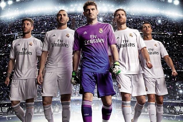 ae89104119c Cristiano Ronaldo and Real Madrid Teammates Unveil New 2013-14 Kit ...