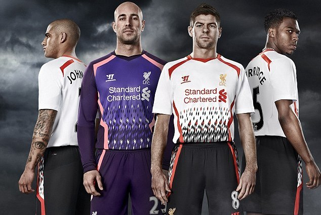 new styles 76ffe b4ca0 Liverpool's 2013/14 Away Kit and the 20 Ugliest Shirts This ...