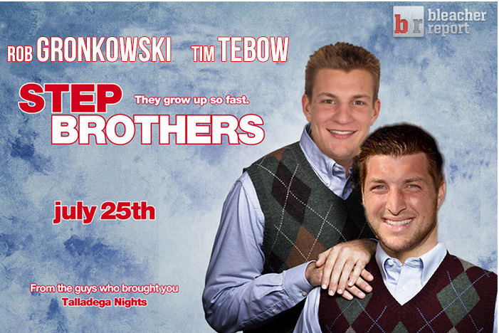 Tim Tebow and Rob Gronkowski in the Same Locker Room
