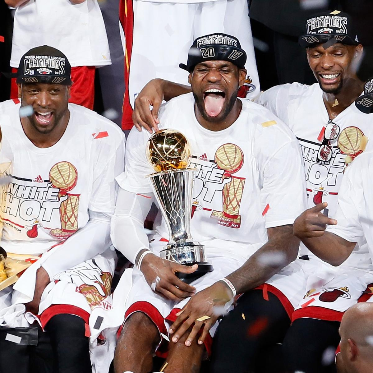 The Miami Heat Celebrate As 2013 NBA Champions