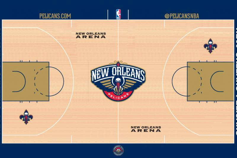 New Orleans Pelicans Brand New Home Court Revealed For 2013