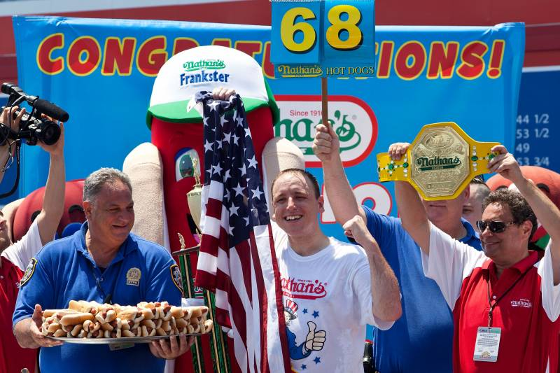 Nathan S Hot Dog Eating Contest Records Men And Women S All