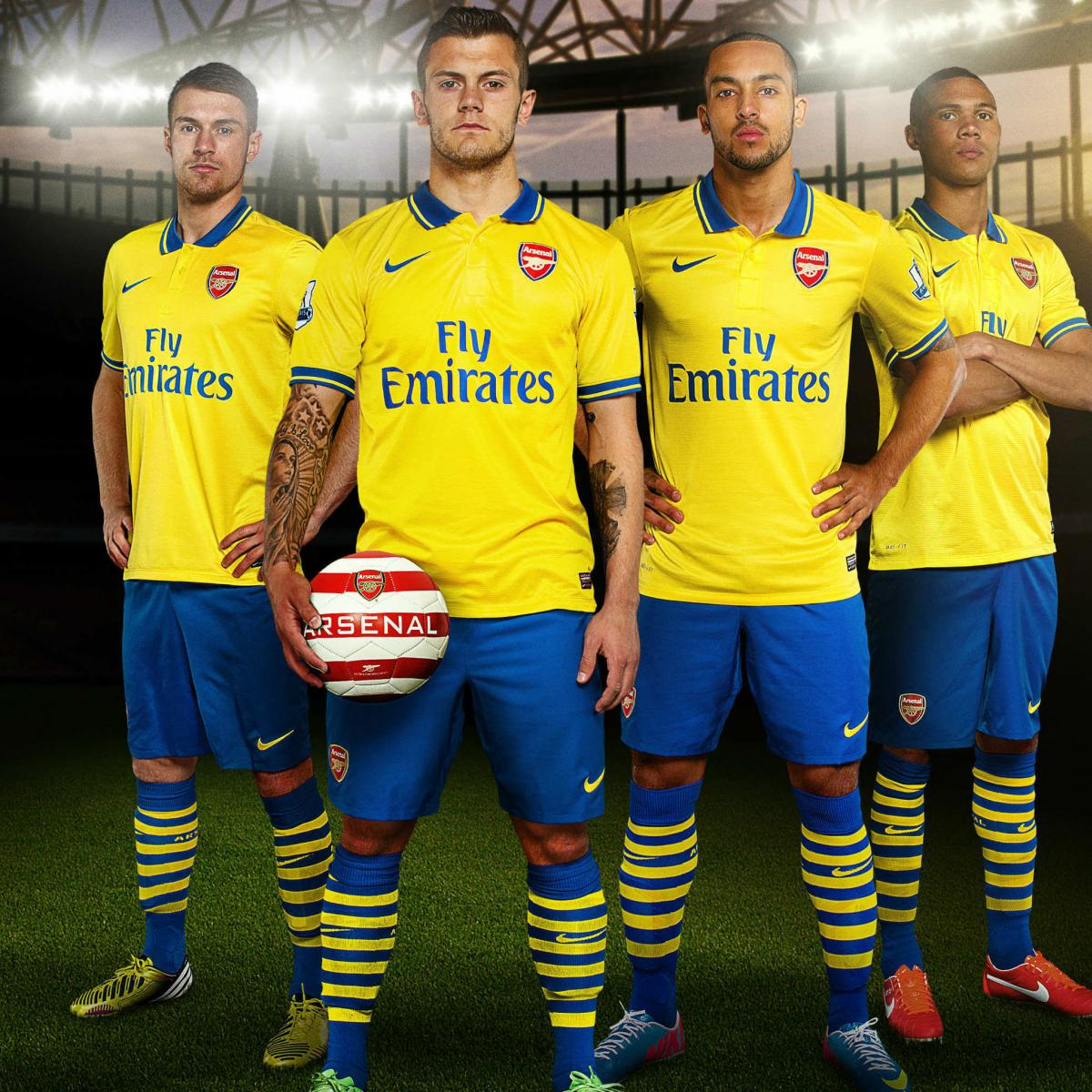 3437387af Arsenal Launch New 2013-14 Away Kit at the Emirates Stadium ...