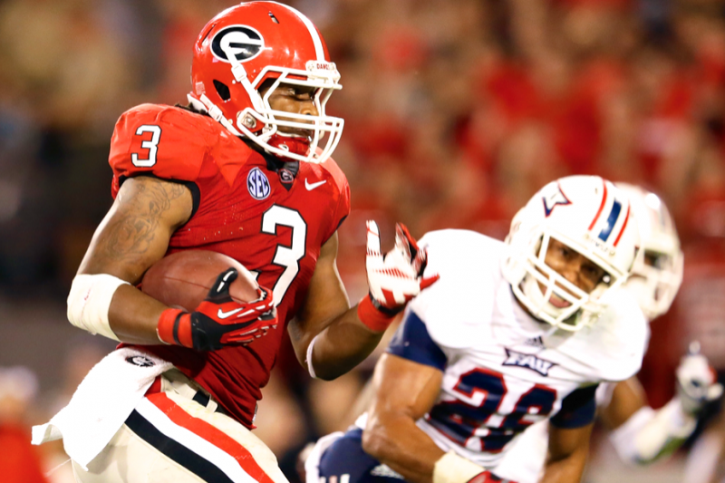 newest c799b b7af5 Analyzing How Todd Gurley Compares to Georgia Bulldogs ...