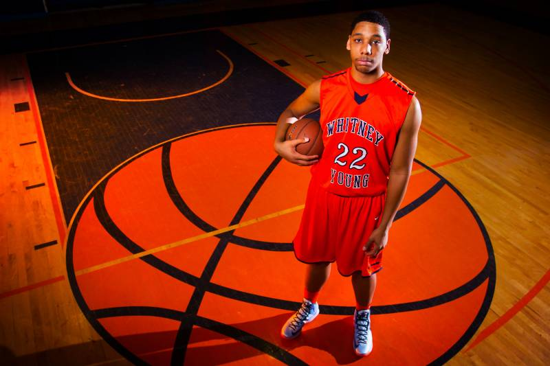 new arrival cc6d9 e33df Big Jahlil Okafor was one of the top players at the Nike Peach Jam this past