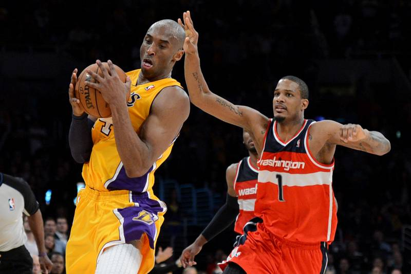 6450cfc96e34 Trevor Ariza Rocks Vintage Kobe Bryant Lakers Jersey While in Philadelphia