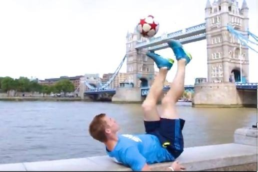 World Freestyle Football Champ Makes Mind-Blowing Skills Video in London